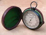 Late 19th century pocket barometer & altimeter by Dollond