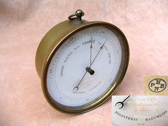 Aneroid barometer signed Gardener & Co, Glasgow, circa 1860's