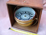 19th century gimbal mounted boxed ships compass