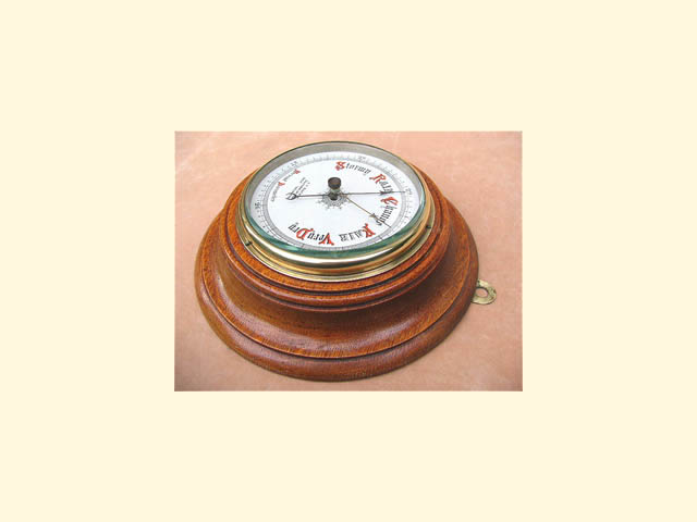 Late 19th century wall barometer by A W Boatman Southend on Sea