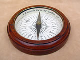 Victorian mahogany desk top compass by Barker & Son