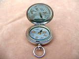 British Army Officers hunter cased pocket compass dated 1917