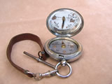 WW1 British Army Officers pocket compass dated 1916