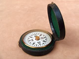 19th century floating dial card pocket compass