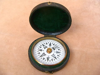 Mid Victorian floating dial card compass