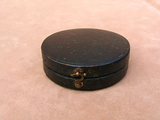 Top view of compass case closed