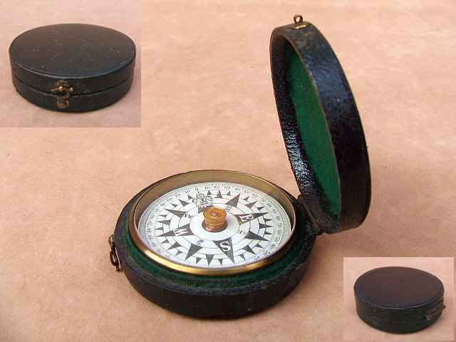 19th century dial card compass circa 1875