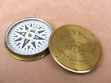Victorian brass cased explorers pocket compass