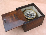 Gimbal mounted ship or boat compass  circa 1870