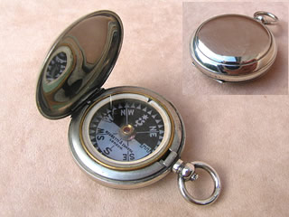 Negretti & Zambra pocket compass with Singers patent style dial. circa 1880