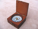 Negretti & Zambra  mahogany cased pocket compass circa 1870