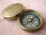 Antique brass cased pocket compass circa 1800