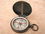 Tycos brass cased pocket compass with floating dial, by Short & Mason
