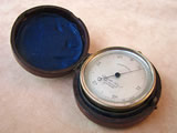 19th century pocket barometer & altimeter by Elliott Bros, 449 Strand, London.