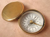Genuine Stanley Victorian brass cased pocket compass.