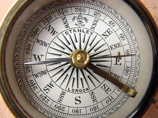 Close up view of dial