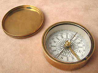 Late 19th century English cross bar needle compass by Stanley London