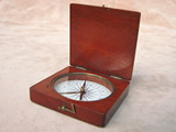 19th century mahogany cased compass by Yeates & Son Dublin