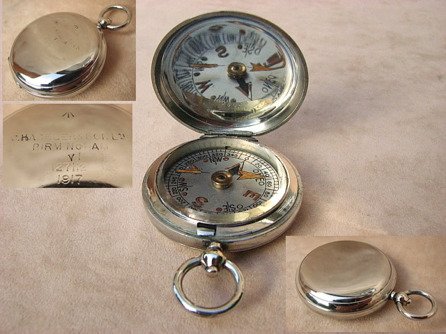 1917 WW1 British Army Officers pocket compass by Haseler Birmingham