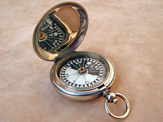 1910 British Army Officers  hunter cased pocket compass