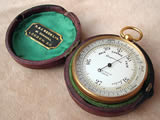 Victorian pocket barometer with altimeter by Richard & Joseph Beck, London.