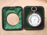 Early 1900's Goliath pocket barometer in silver hallmarked case