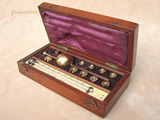 Late 19th century Sikes hydrometer set signed J Short, London