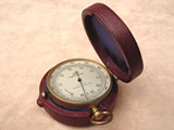 19th century Negretti & Zambra pocket barometer with altimeter scale