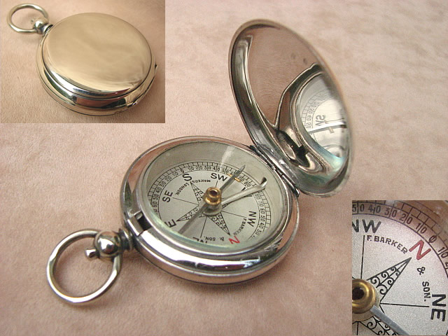 Hunter cased pocket compass by Francis Barker & Son London
