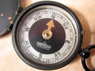 Close up view of Verners style dial