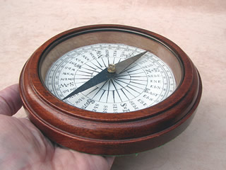 Mahogany cased desk compass circa 1910