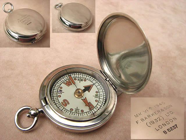 Francis Barker WW2 British Army Officers pocket compass