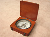 Late19th century mahogany cased compass, circa 1880.