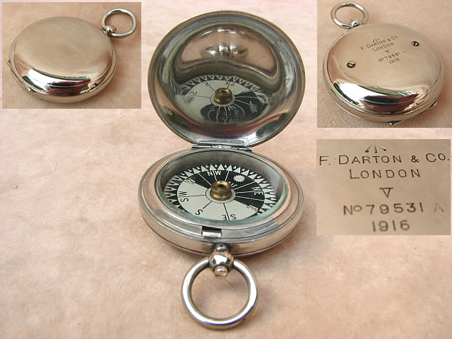 F Darton1916 WW1 Army Officers MK V pocket compass