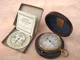 Edwardian period pocket barometer with separate Negretti & Zambra weather forecaster