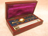 Mid 19th century sikes hydrometer set by Joseph Long, 20 Little Tower St.