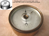 Prototype of first pocket barometer made by Negretti & Zambra in 1860
