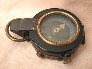 A WW1 Verners pattern MK VII prismatic marching compass by J H Steward