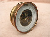 Victorian brass cased aneroid wall barometer, signed R M Nelson, Omagh - circa 1870.