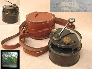 Pre WW1 Broadhurst Clarkson pocket sextant with case