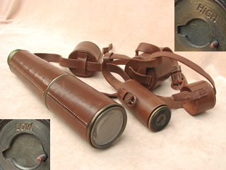 Post WW1 era 3 draw signalling style telescope with interchangeable lens