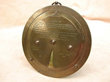 Large Negretti & Zambra brass desktop weather forecaster - circa 1920