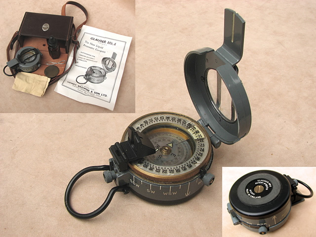 Edwardian Oak cased pocket compass
