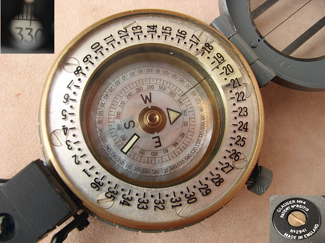 Close up view of mother of pearl dial