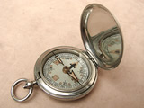 1918 British Army Officers hunter cased pocket compass by W F Holmes Birmingham