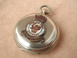 Pre WW2 MK VII Hunter cased pocket compass with later RAF Germany insignia badge