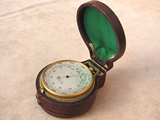 19th century combine pocket barometer & altimeter with compass.