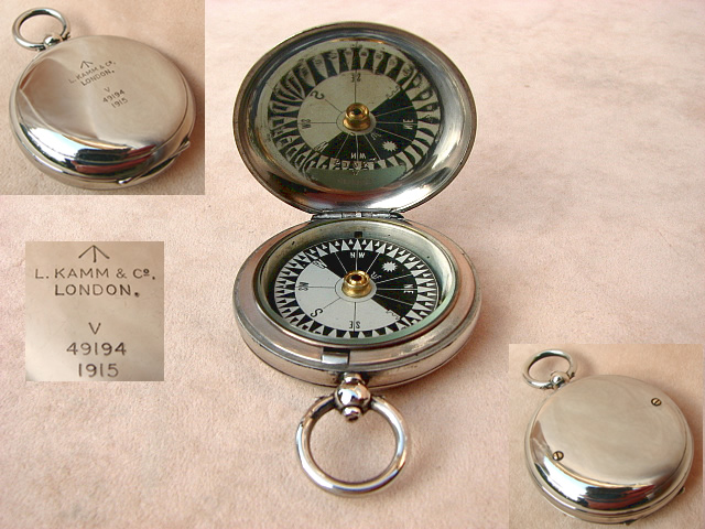 1917Dennison WW1 Army Officers hunter cased pocket compass