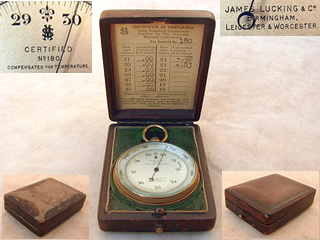 1920's Rare Negretti & Zambra box model Weather Forecaster