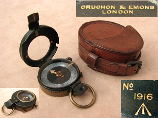 WW1 Verners MK VII compass by Cruchon & Emons, dated 1916